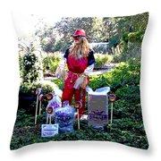 Mardi Gras Scarecrow At Bellingrath Gardens Throw Pillow
