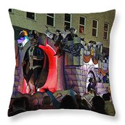 Mardi Gras Vampire Float  2 Throw Pillow