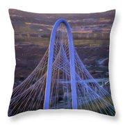 Margaret Hunt Hill Bridge Central Arch Throw Pillow