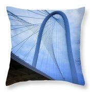 Margaret Hunt Hill Bridge Dawn Throw Pillow