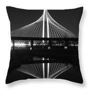 Margaret Hunt Hill Bridge Reflection Throw Pillow