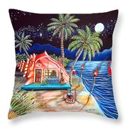 Margaritaville Conch Christmas Throw Pillow