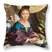 Maria Merian  Throw Pillow by Science Source