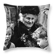 Maria Montessori Throw Pillow