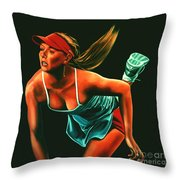 Maria Sharapova  Throw Pillow