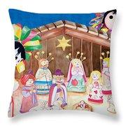 Maria Sofia And The Nativity Throw Pillow