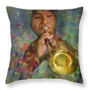 Mariachi Trumpet Player Throw Pillow