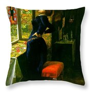 Mariana In The Moated Grange 1851 Throw Pillow