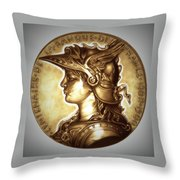 Limited Edition  Marianne Gold Throw Pillow