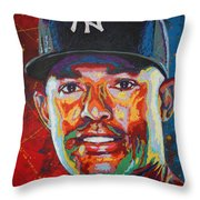 Mariano Rivera Throw Pillow by Maria Arango