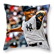 Mariano Rivera Painting Throw Pillow