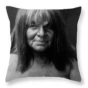 Maricopa Indian Women Circa 1907 Throw Pillow by Aged Pixel