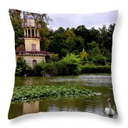 Marie - Antoinette's Estate Palace Of Versailles - Paris Throw Pillow