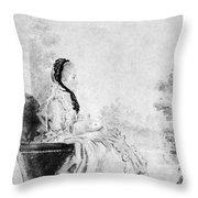 Marie De Vichy-chamrond (1679-1780) Throw Pillow