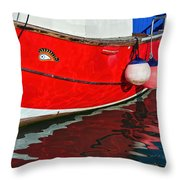 Marie F At The Harbour Throw Pillow