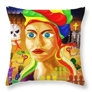 Marie Laveau Throw Pillow