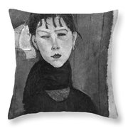 Marie Young Woman Of The People Throw Pillow