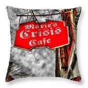 Marie's Crisis Cafe Throw Pillow