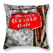 Marie's Crisis Cafe Throw Pillow