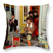 Marigny Musicians Throw Pillow