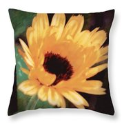 Marigold Impressions Throw Pillow