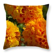 Marigold Mops Throw Pillow