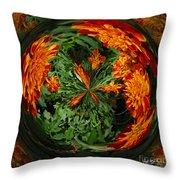 Marigold Orb II Throw Pillow
