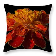 Marigold Tagetes Throw Pillow
