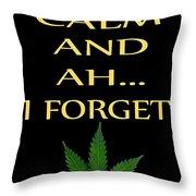 Marijuana 4 Throw Pillow