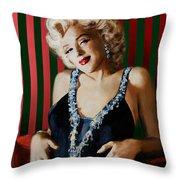 Marilyn 126 D Stripes Throw Pillow
