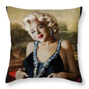 Marilyn 126 Mona Lisa Throw Pillow