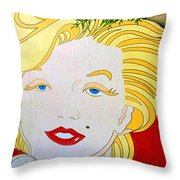 Marilyn Throw Pillow by Ethna Gillespie