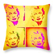 Marilyn Grew Up Throw Pillow