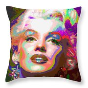 Marilyn Monroe 01 - Abstarct Throw Pillow