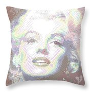 Marilyn Monroe 01 - Parallel Hatching Throw Pillow