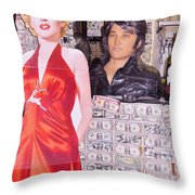 Marilyn Monroe And Elvis Throw Pillow