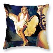 Marilyn Monroe Artwork 3 Throw Pillow