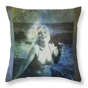 Marilyn Monroe At The Beach Throw Pillow