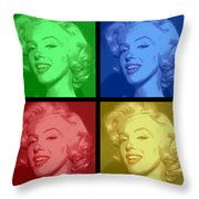 Marilyn Monroe Colored Frame Pop Art Throw Pillow