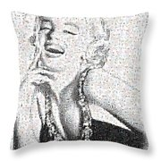 Marilyn Monroe In Mosaic Throw Pillow