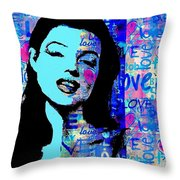 Marilyn Monroe.  Loved And Lost. Loved Again Throw Pillow
