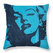 Marilyn Monroe Loves Batman Throw Pillow