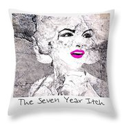 Marilyn Monroe Movie Poster Throw Pillow