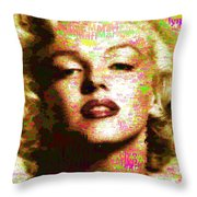 Marilyn Monroe Name Characters Throw Pillow