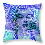 Marilyn Monroe Out Of The Blue Throw Pillow