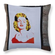 Marilyn Monroe Throw Pillow by Rob Hans