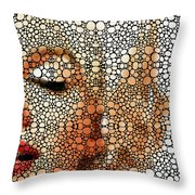 Marilyn Monroe - Stone Rock'd Art Painting Throw Pillow