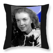 Marilyn Monroe Then Norma Jeane Dougherty Photo By H. Maier Studios Los Angeles Ca C.1943-2014 Throw Pillow