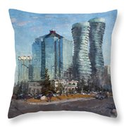Marilyn Monroe Towers Throw Pillow