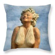 Marilyn Monroe Watercolor Throw Pillow